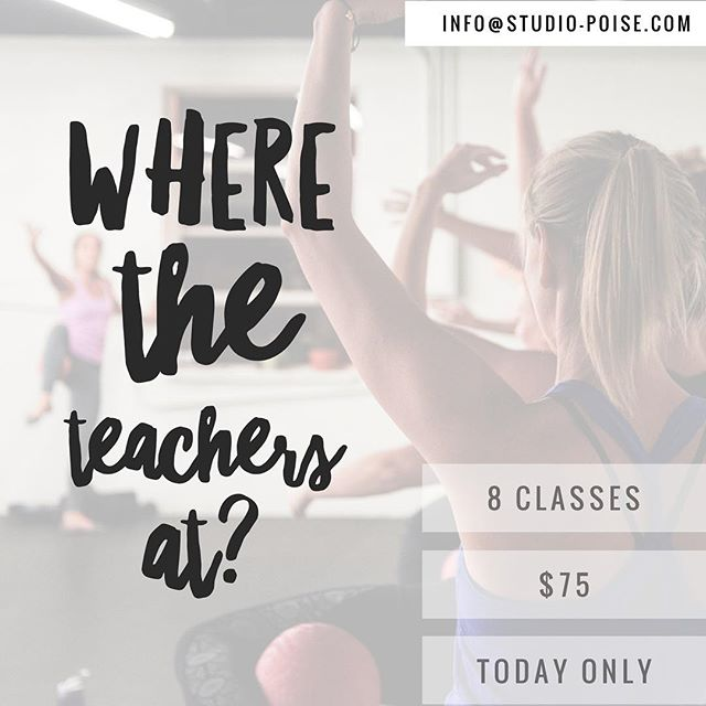 Because it's snowing, and you might have the day off or you might not! Because we love what you do for our kids in good and bad weather - teachers, today this one's for you! Email us to redeem (info@studio-Poise.com) 💖😘