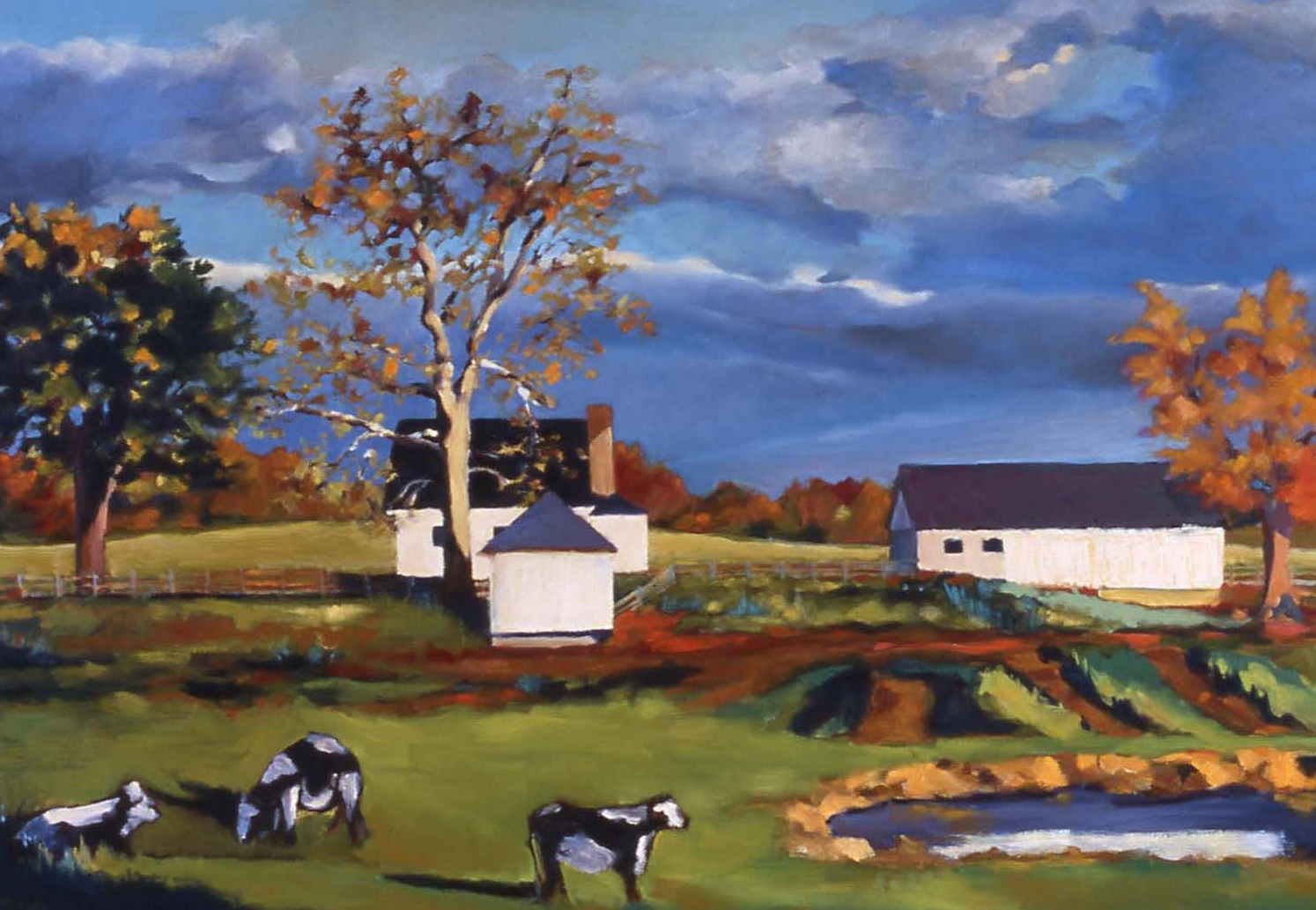 """Cows in Autumn"" - SOLD"