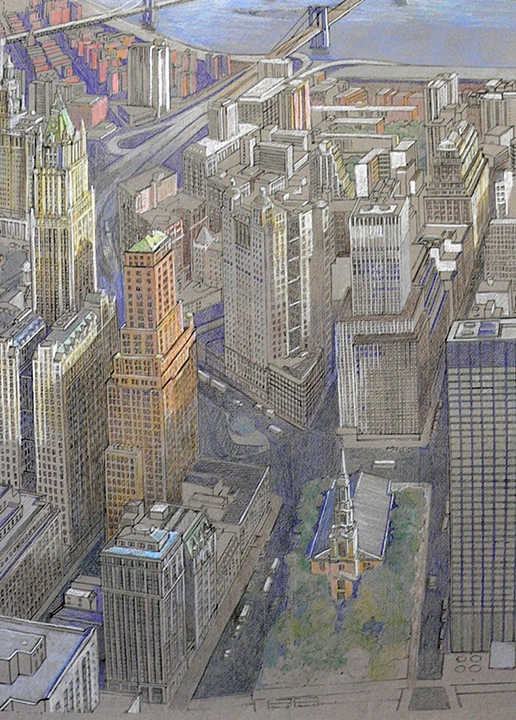 View East from World Trade Center (1996)