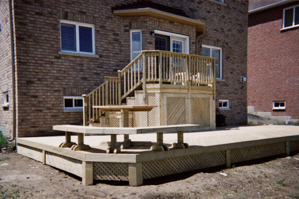Two Level Deck for a New Home