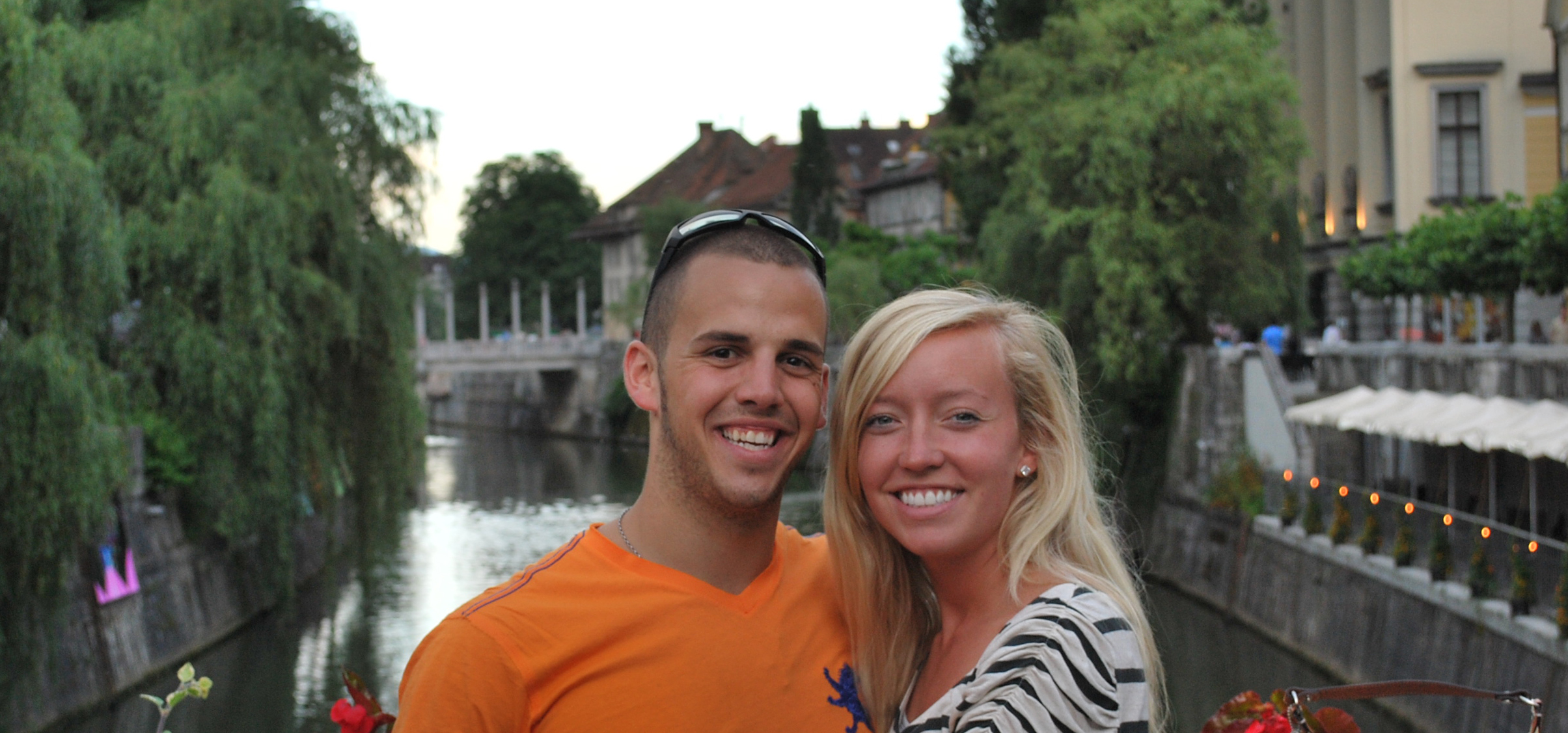 Our first time to Slovenia in 2010, in the center of Ljubljana.
