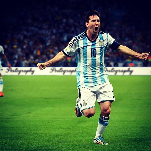 We ❤️ #Messi and stand behind #Argentina... no literally behind Argentina!