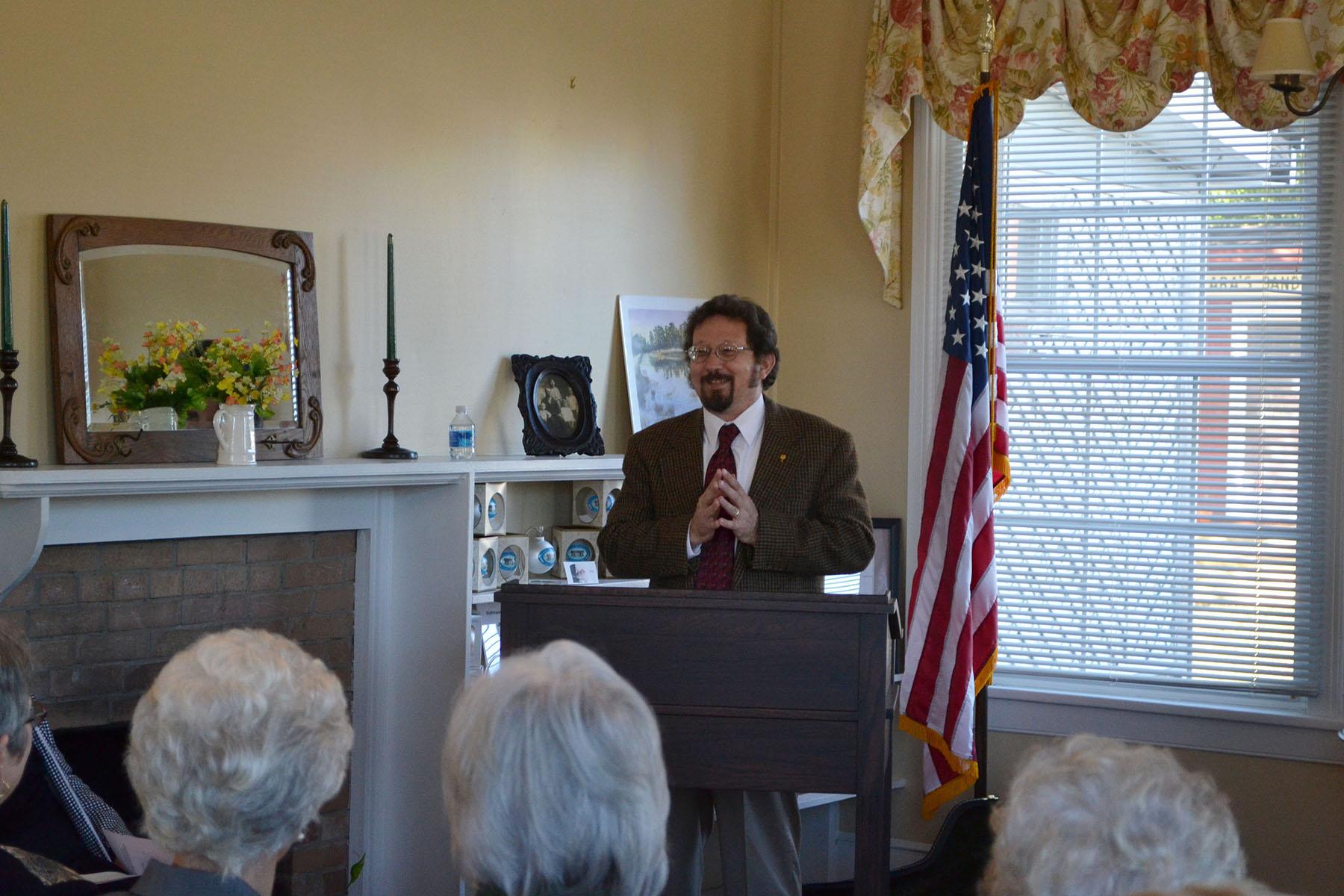 Wade Dorsey speaks at dedications of Dairy House Nov. 2nd 2014.  Photo by Jim McLean.