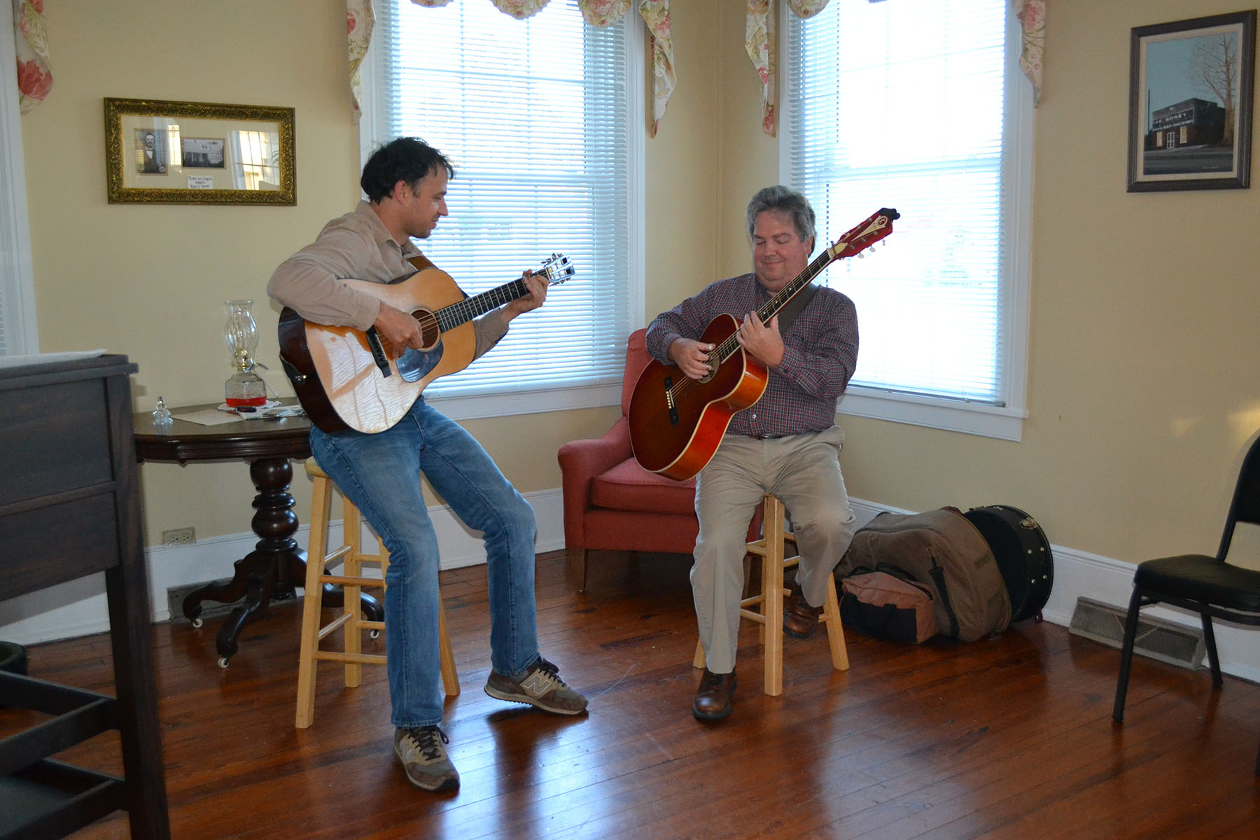 Music played on November 2, 2014 at historical buildings dedication.  Photo by:  Jim McLean.