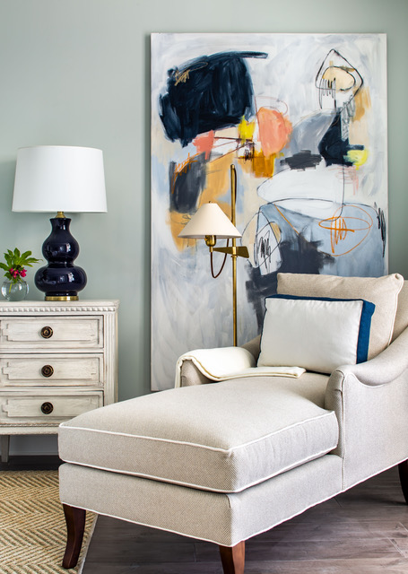 """""""Bayeux"""", 78"""" x 42"""", featured in project by Ashley Gilbreath Interior Design, shot by John Kerr."""