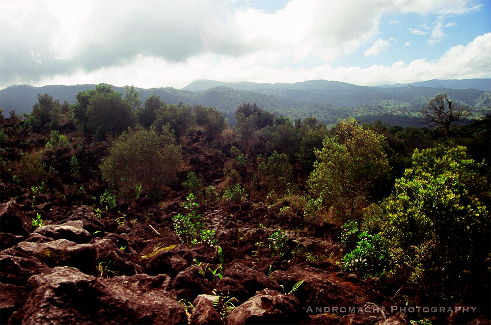 walking on Arenal active volcano, Costa Rica