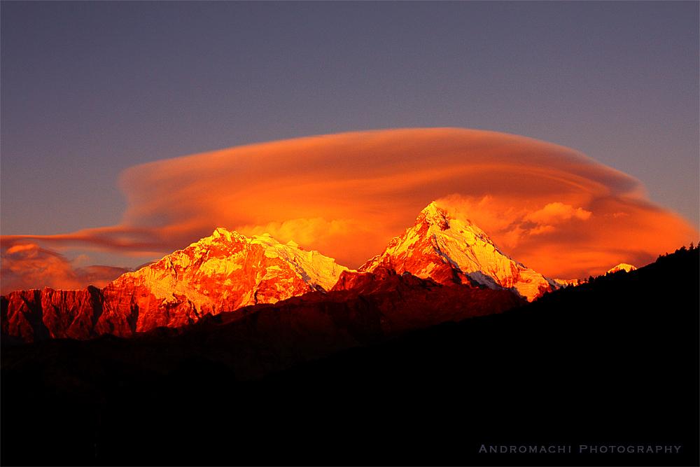 relaxing after a long hike, Annapurna, Himalayas, Nepal