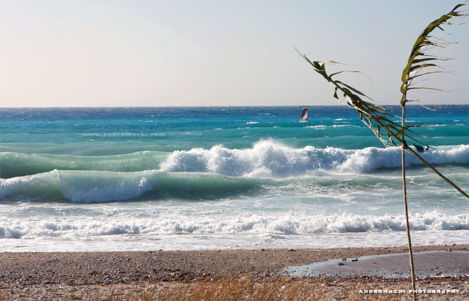 Agios Ioannis, windurf and kitesurf spot, andromachi photography