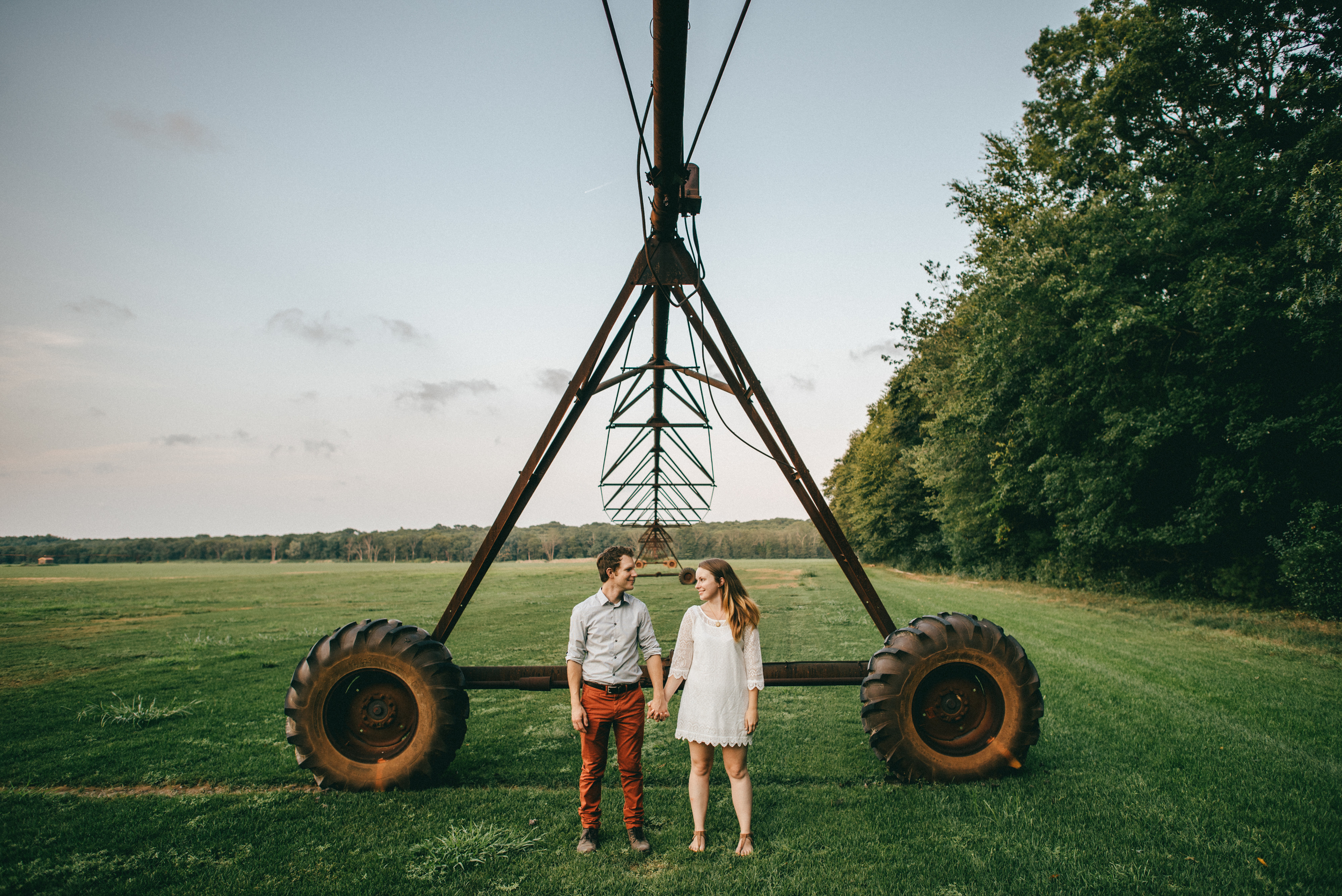 rustic farm engagement