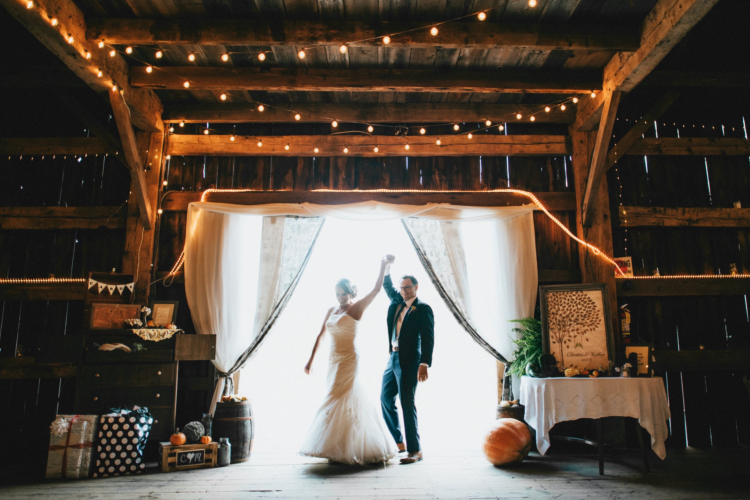 George Weir Barn Wedding
