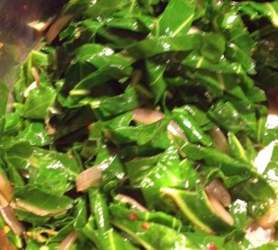 Sautéed collard greens