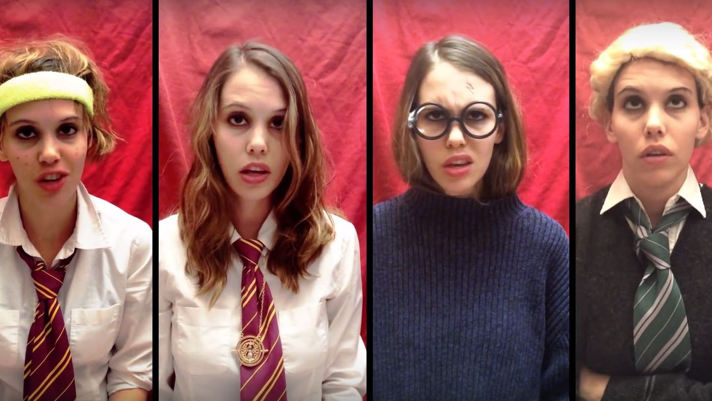 A mashup of Taylor Swift songs and the world of Harry Potter.