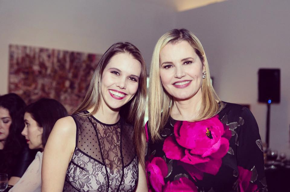 Kate Parkin and Geena Davis at the GDIGM Holiday Fundraiser