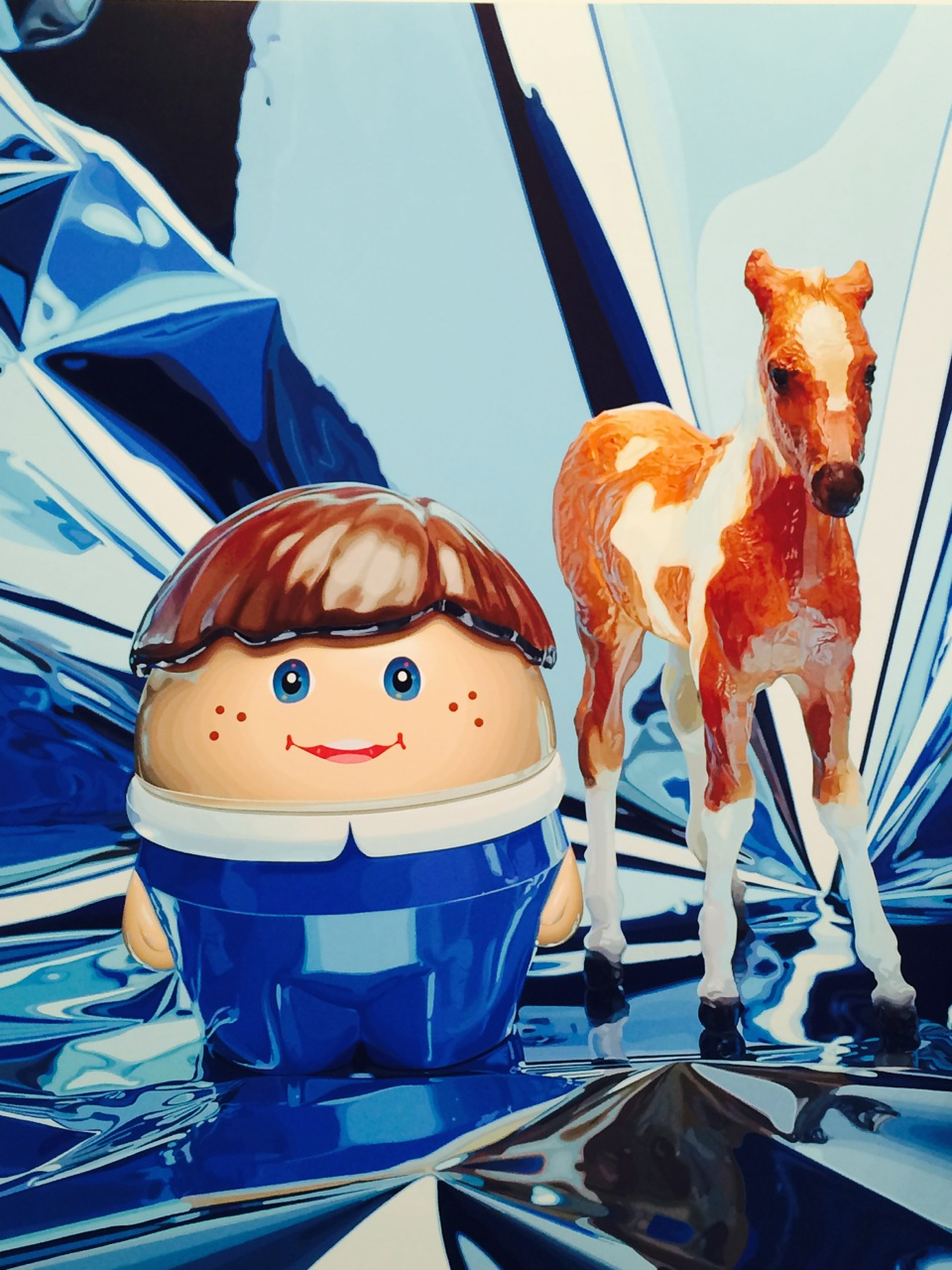 Jeff Koons Boy With Pony (oil on canvas)