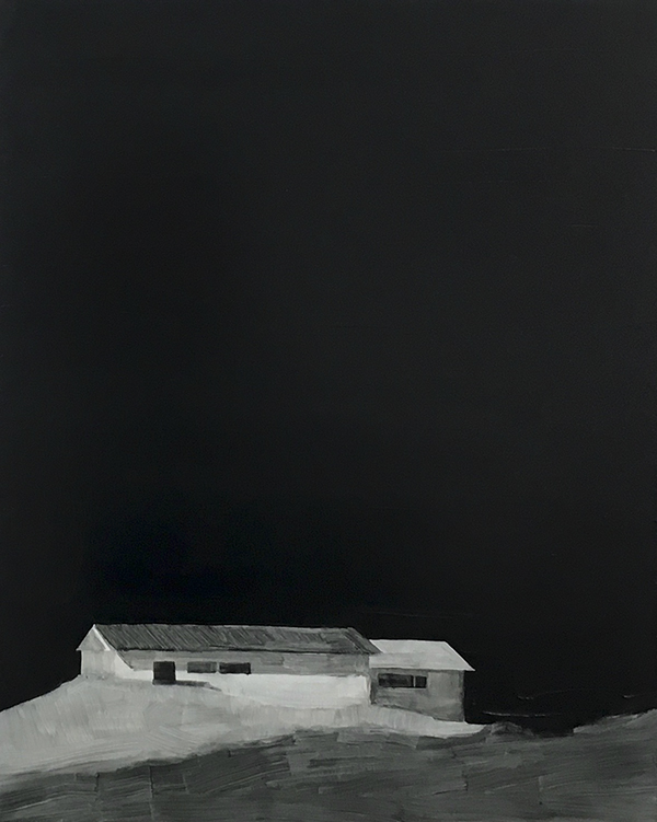 Night House,  Oil on panel, 24 x 30 from exhibition  The Space Between