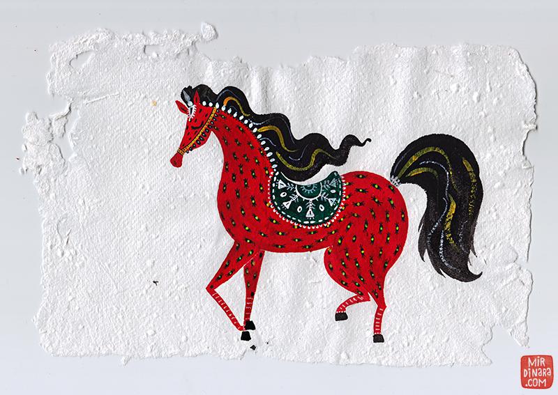 red horse by mirdinara