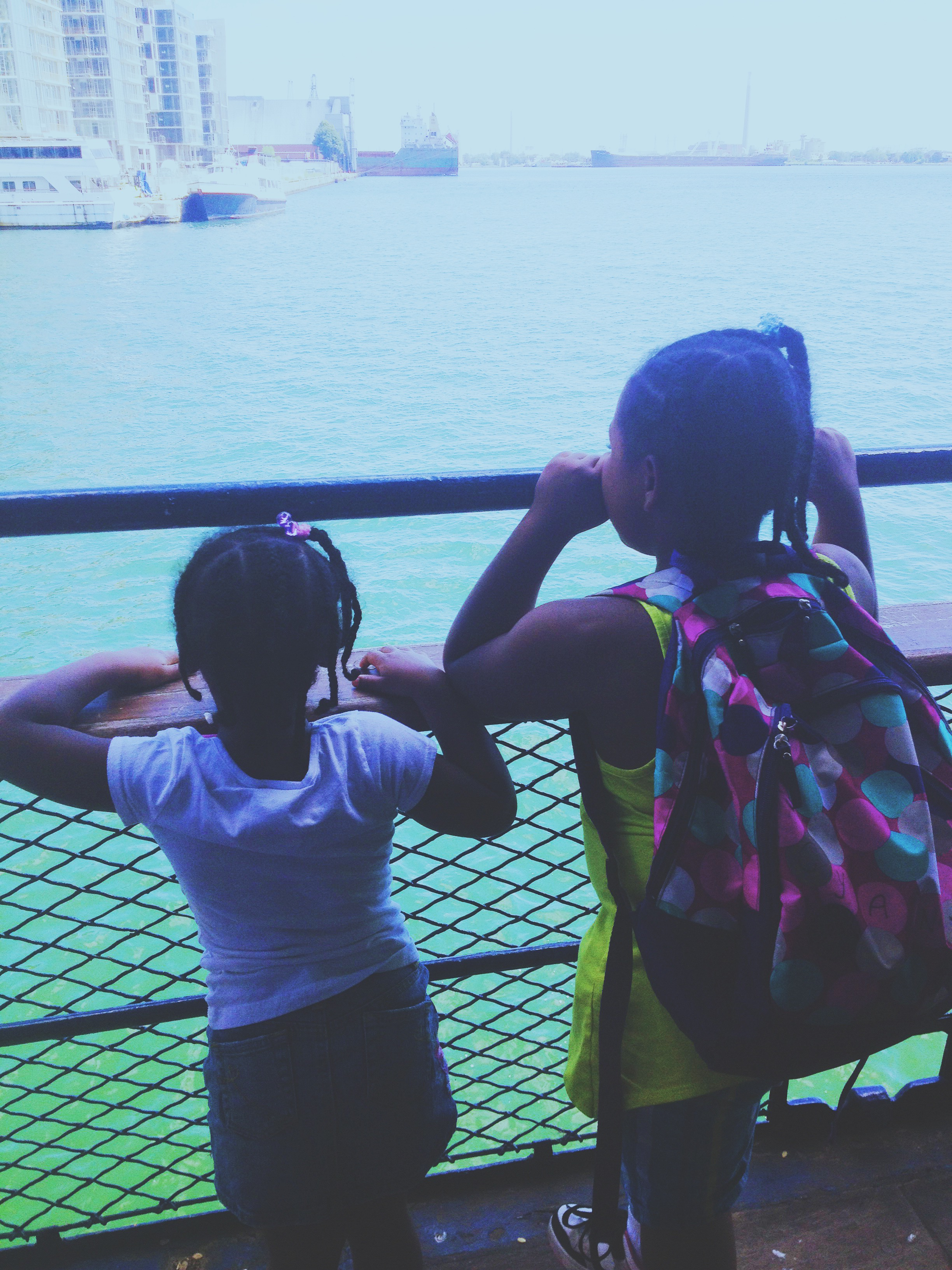Angels on the ferry.