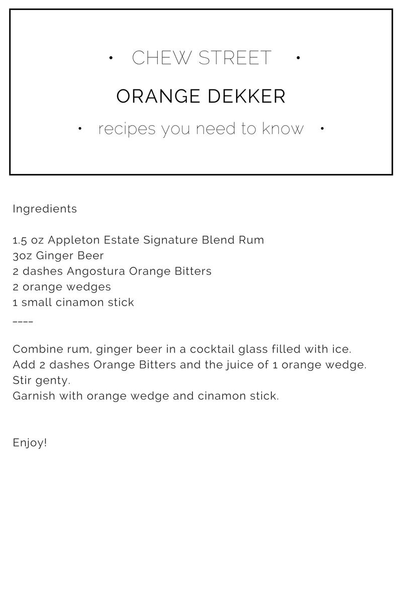 Appleton Winter Cocktail