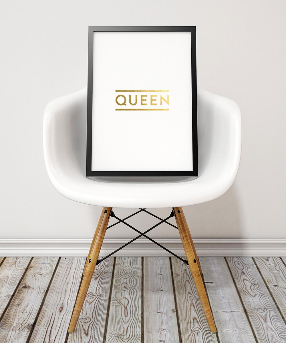 """Queen"" art print. Swell Made Co."