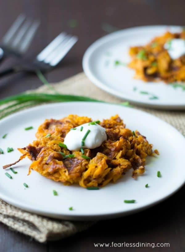 This Curried Sweet Potato waffle recipe from Fearless Dining is Whole 30 compliant, paleo, vegan, and dairy free too!
