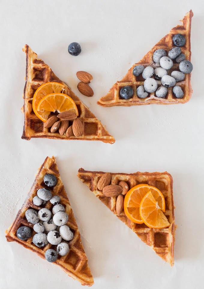Sweet Plantain Waffles from Recipes from a Pantry by Bintu.
