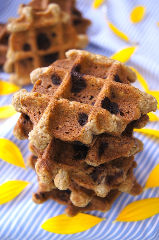 Sunflowers and Maple-Pecan Chocolate Chip Waffle Cookies are Gluten Free.