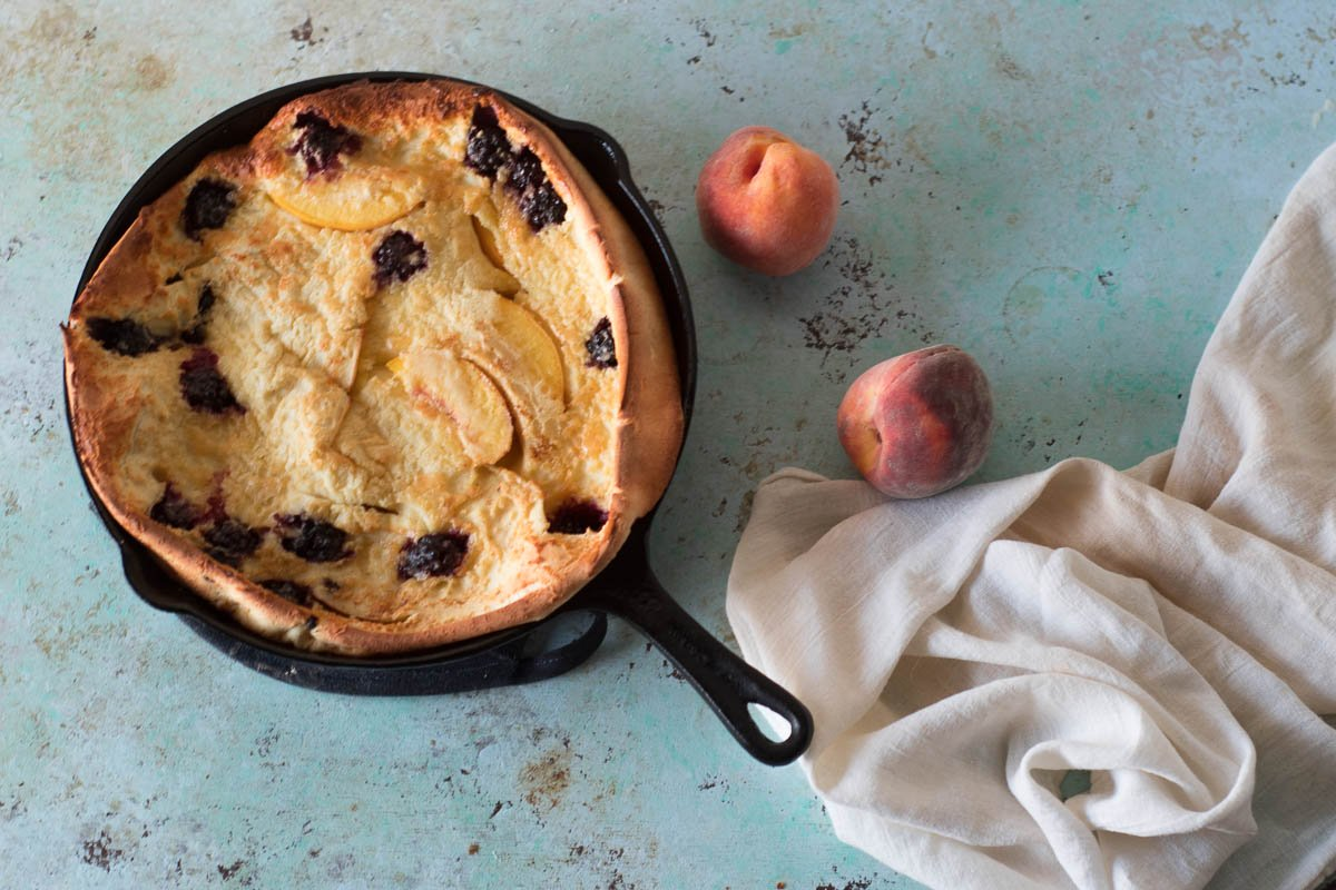 Blackberry Peach Dutch Baby from Blossom to Stem.