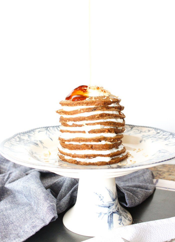 Guiltless Carrot Pancakes from A Lively Table.