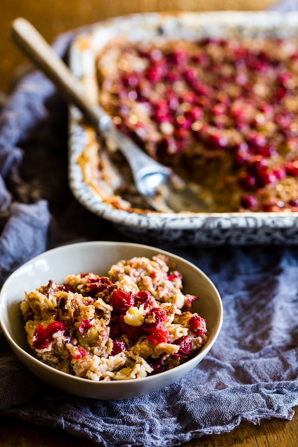 Baked Cranberry Oatmeal from Nutmeg Nanny.