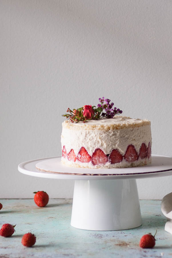 Strawberry Frasier with Lillet Chiffon Cake from Blossom to Stem