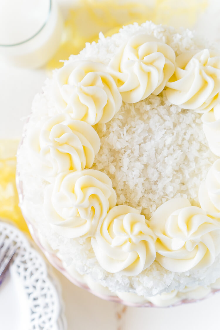 A classic Coconut Cake from Sugar and Soul.