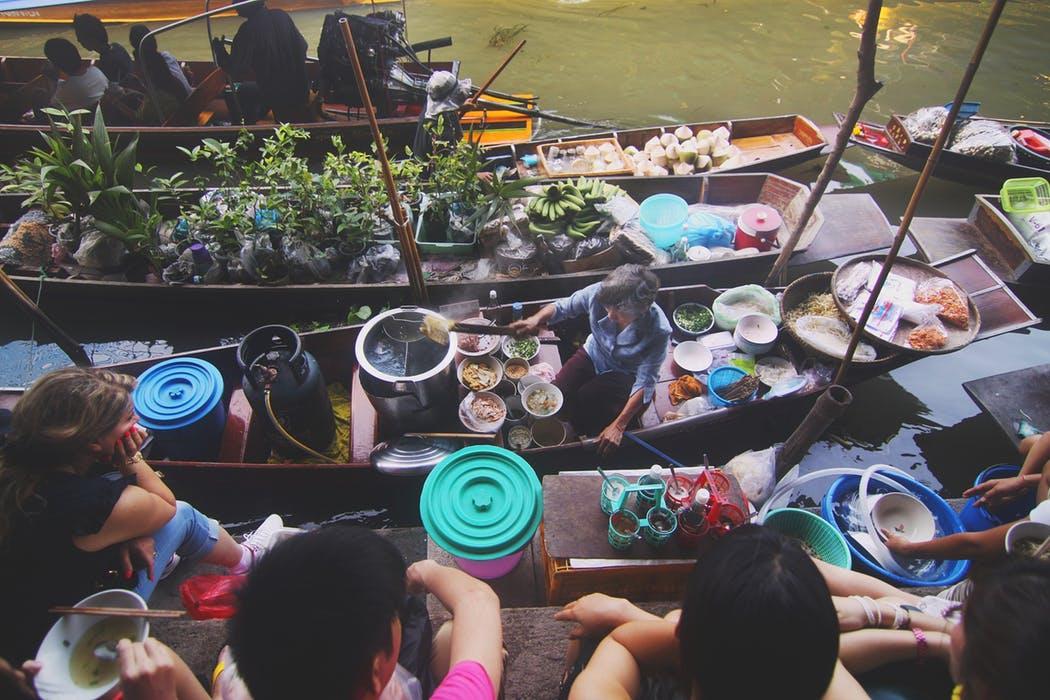 Thai Floating Market.