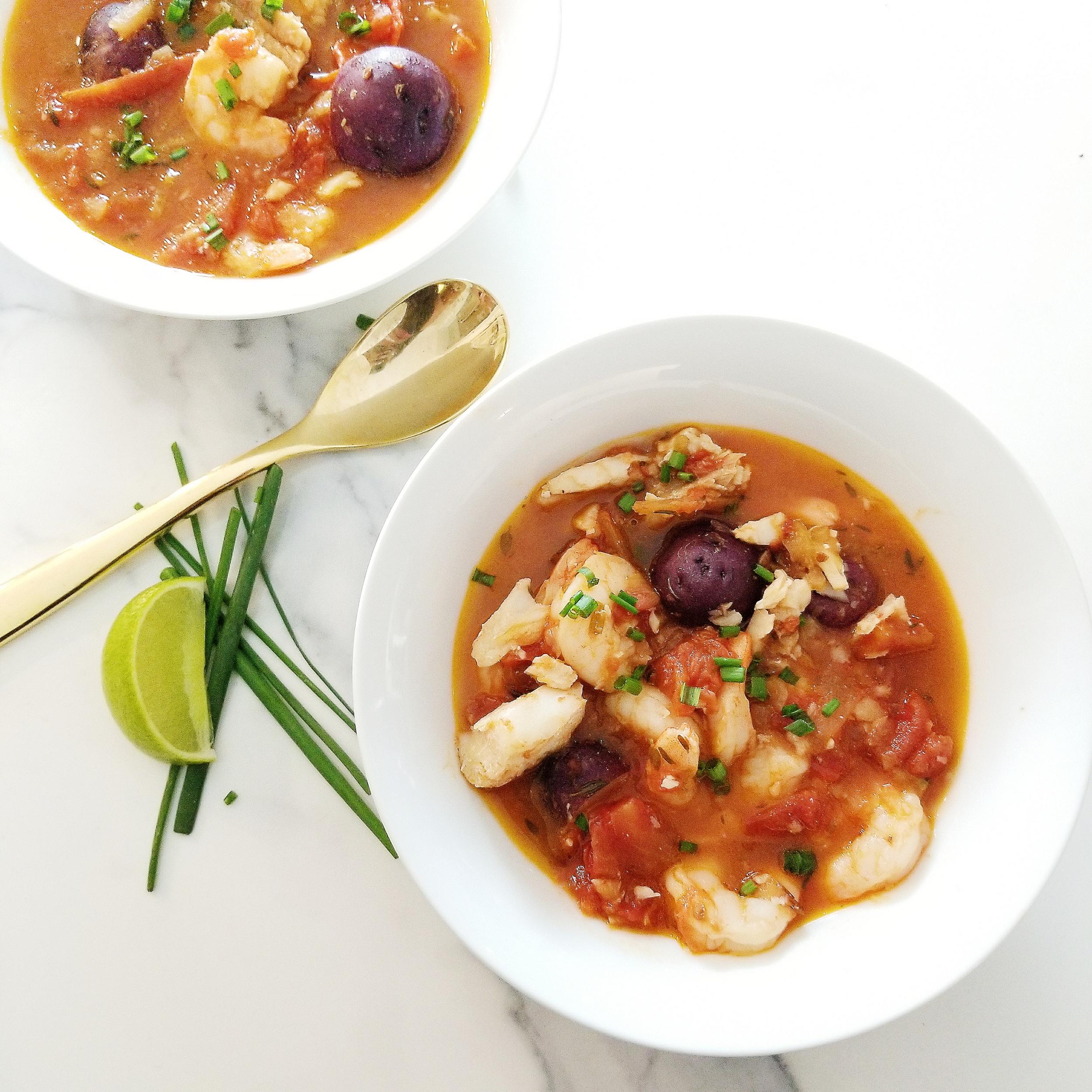 Shrimp & Cod Stew