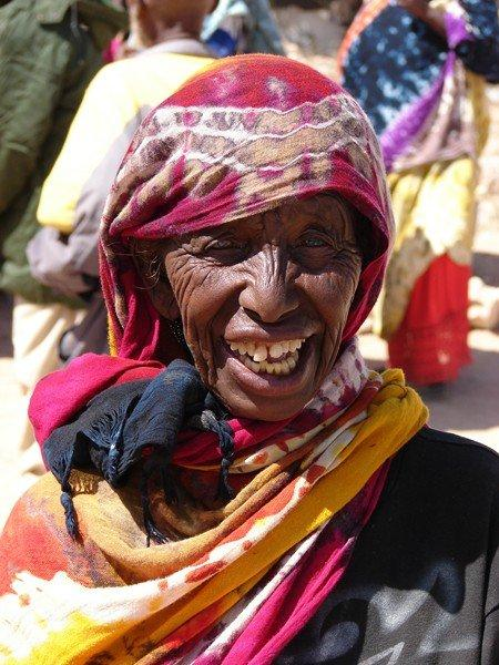 """Khadija is a 60-year-old Somalilander who has lost her husband a couple of years ago. She has 10 children. """"I pray to Allah for help each day. I have nothing and am only begging for my daily bread! This is the first food I have for more than a month,"""" she said while kissing my hand (as a sign of appreciation)."""