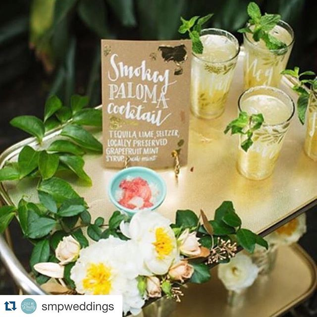 #Repost  from @smpweddings ・・・ #LBBregram from @poppyandmint: Fancy a drink? This vintage bar cart from @pretafete is perfect! Cocktails by @locallypreserved, styling by @ringlerlove calligraphy by @smallchalk and photo by @tasharaephotography