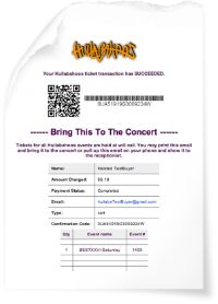 Bring your ticket printed out