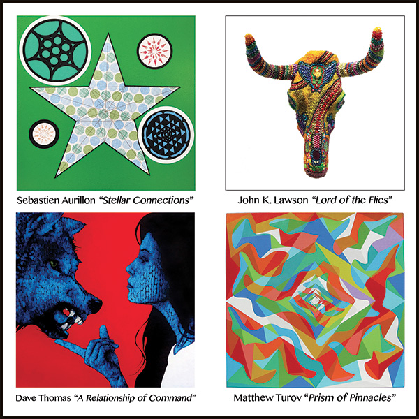 """Cross-Atlantic Visions""   Sebastien Aurillon -  John K. Lawson -Dave Thomas -  Matthew Turov  June 18 - July 11, 2015"