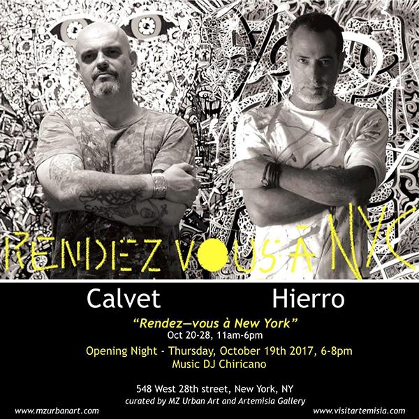 """""""Rendez-Vous à New York""""   Jean-Marc Calvet  October 19 - 28, 2017"""