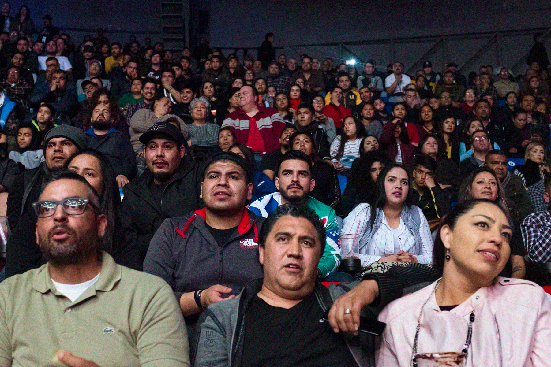 February 23, 2019 - Tijuana, BC, Mexico: The boxing fans at Auditorio Municipal Fausto Gutierrez Moreno. (Mallika Vora)