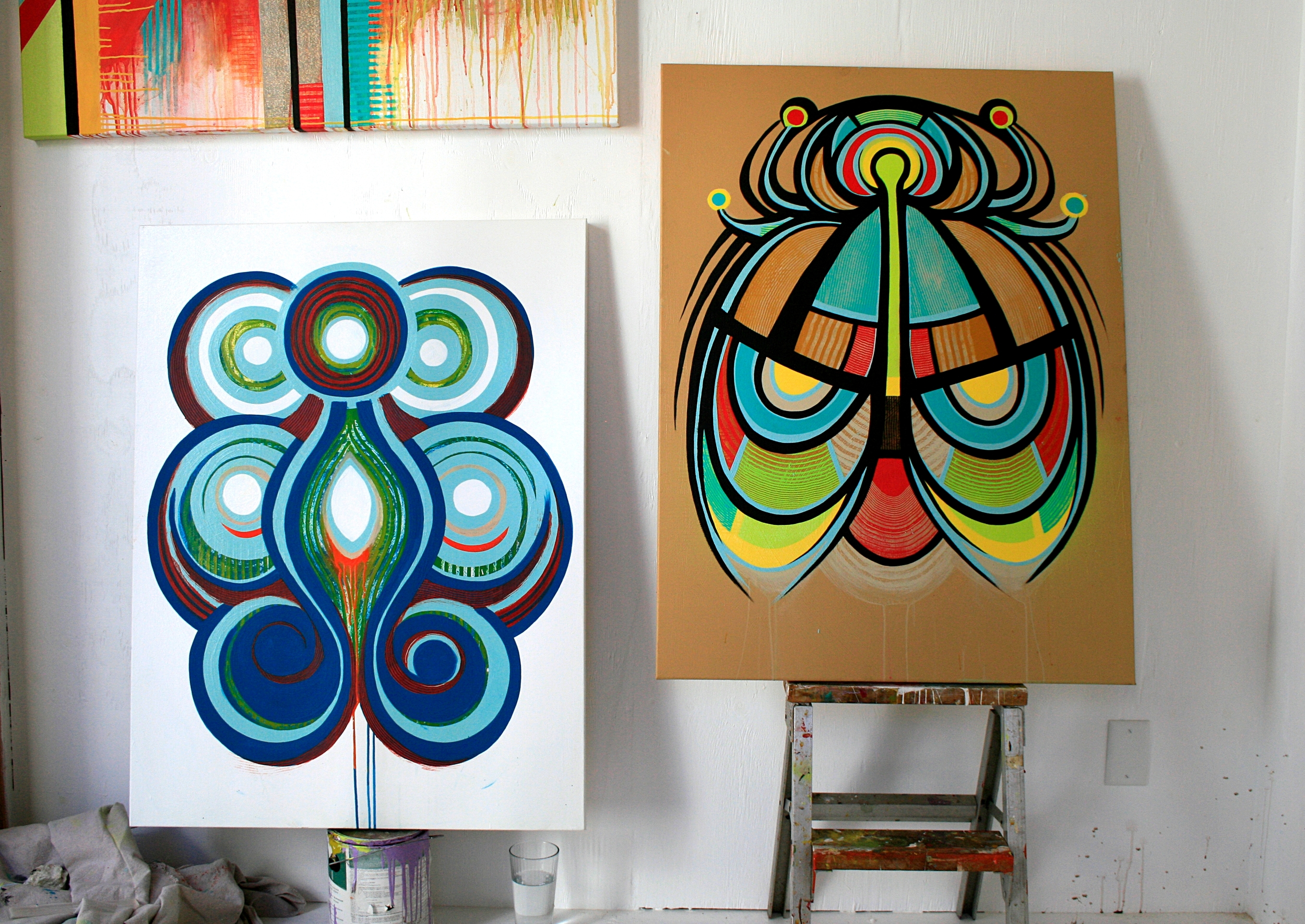 Two new abstract paintings I'm still working on..