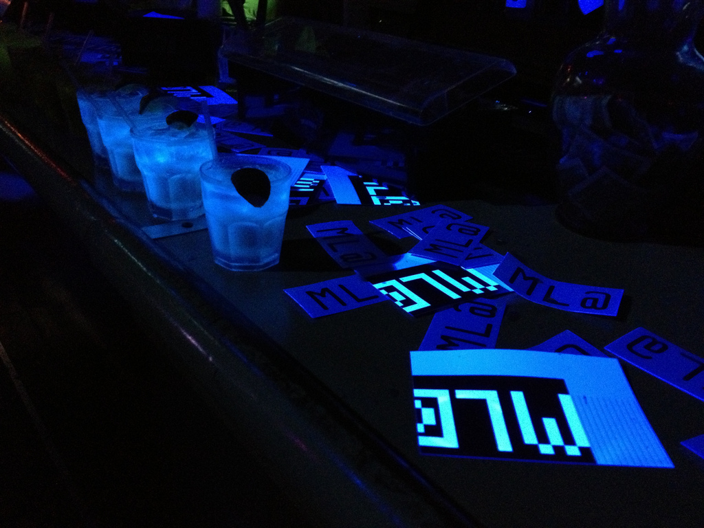 Custom cocktails - Vitamin infused cocktails that glow in the dark