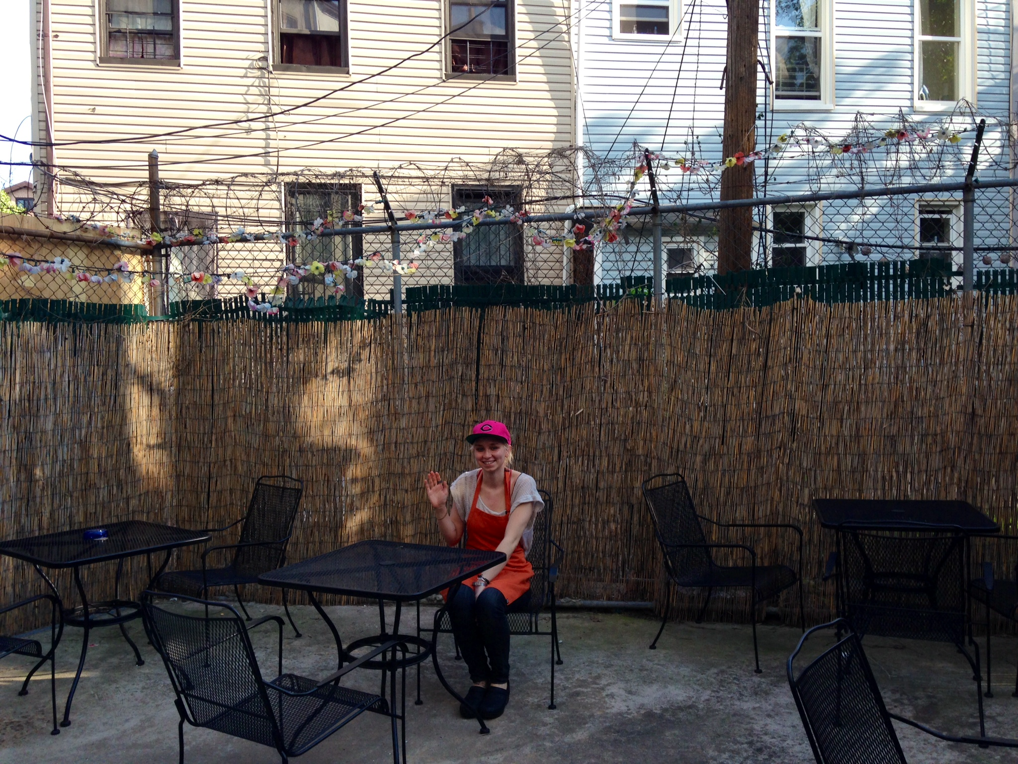 Jennifer Lubanko, who works at Bloom, welcomes all to partake in the spacious backyard!
