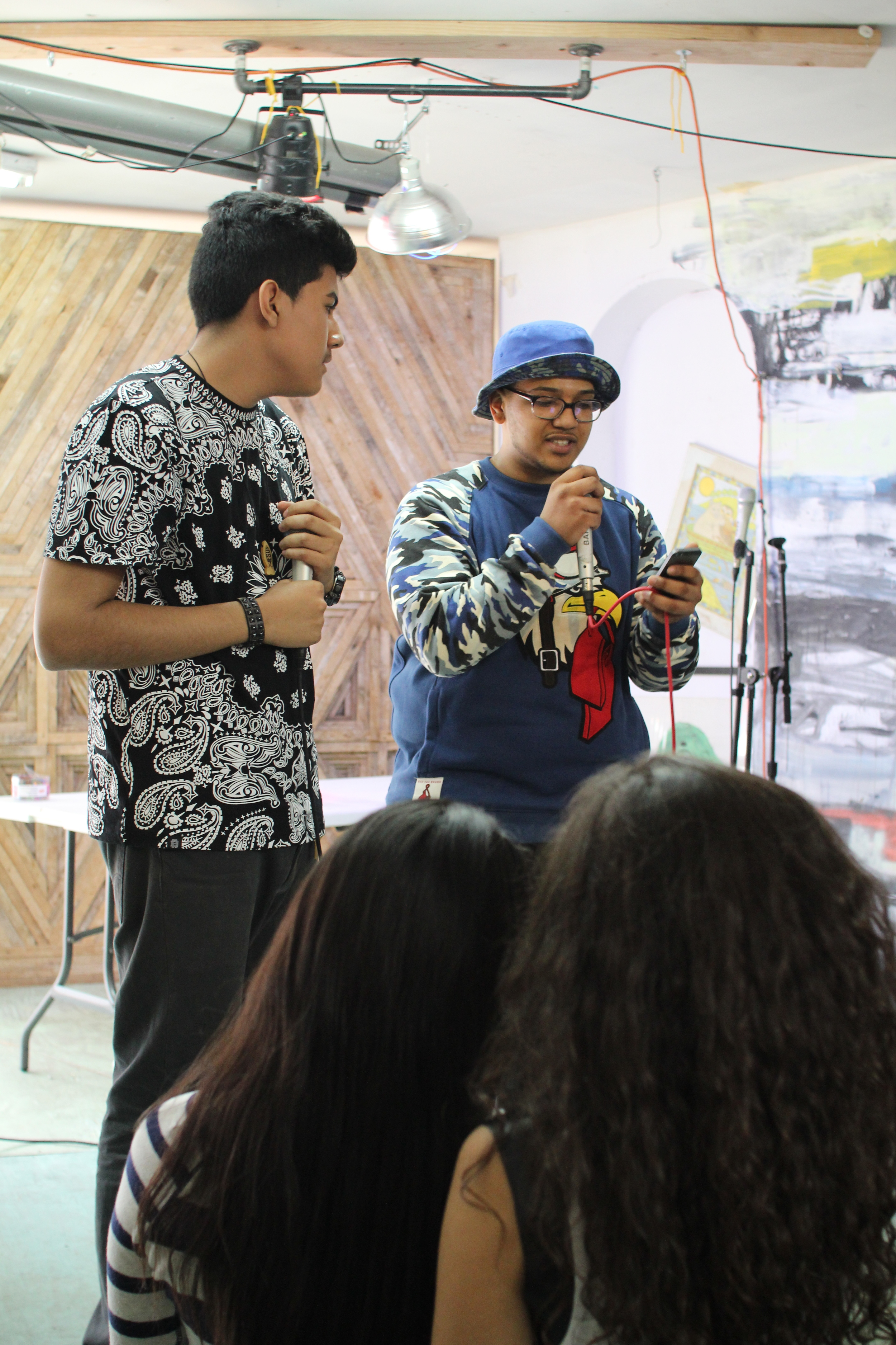 ELM youth on the mic. Photo credit Andrew McFarland.
