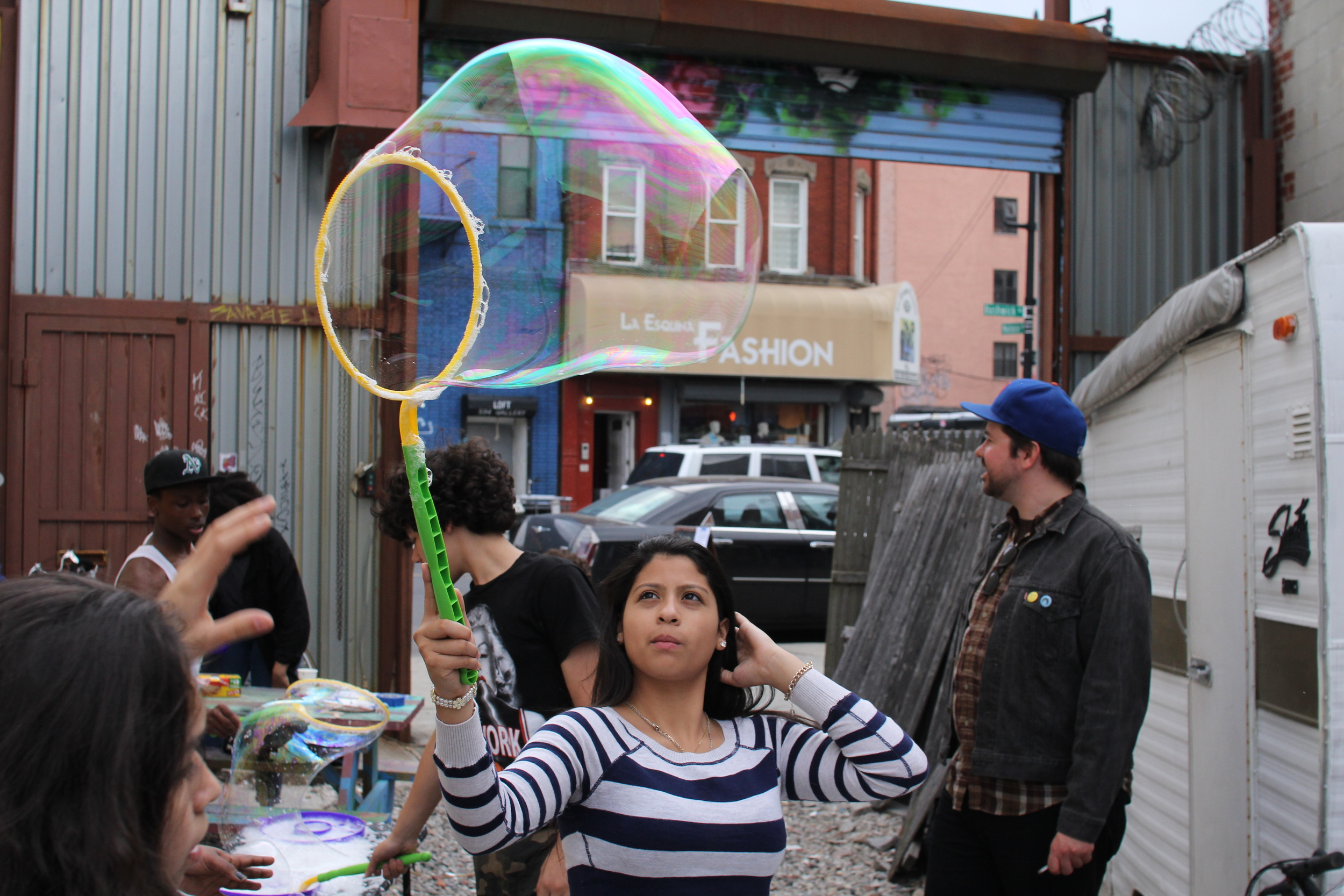 The Yard Party's bubble perfectionist. Photo credit Andrew McFarland