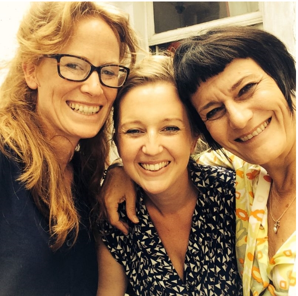 Frédérique Lecomte (Right), with Georgie Weedon and Susannah Tresilian, Brussels 2014