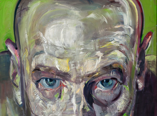 detail from a portrait by Zhenya Gershman