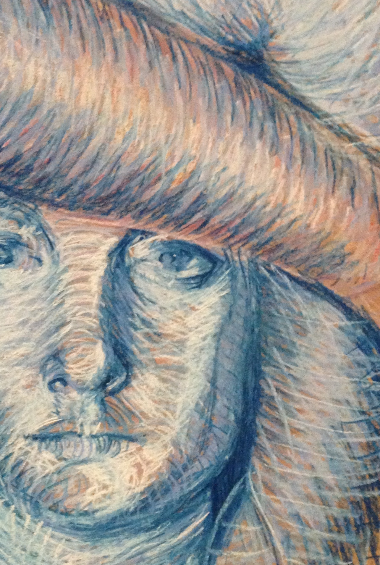 Juliana Mendelsohn, pastel on brown paper, detail, 13 years old student
