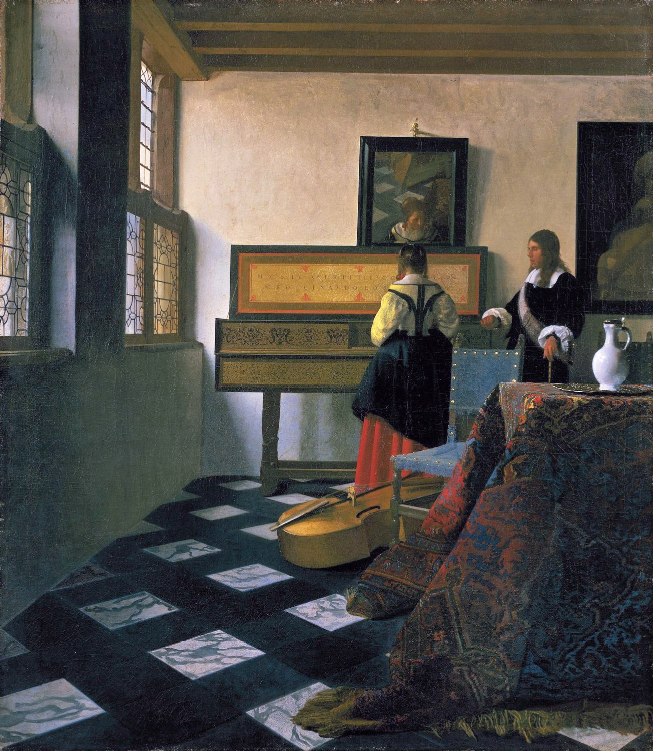 Johannes Vermeer,The Music Lesson, c. 1662,Royal Collection,St. James's Palace,London