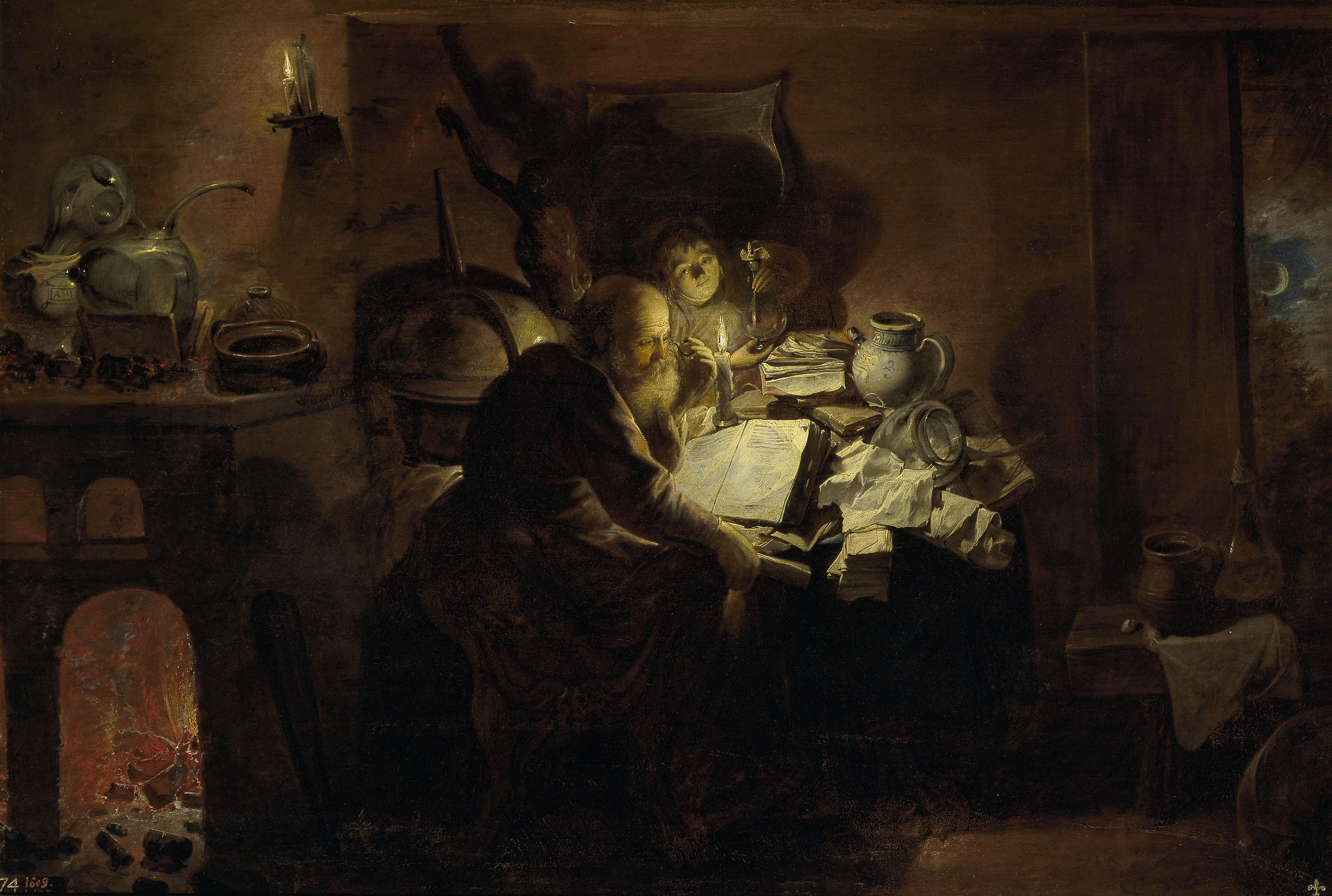 David Ryckaert III,  The Alchemist , 1649, Museo del Prado, Madrid
