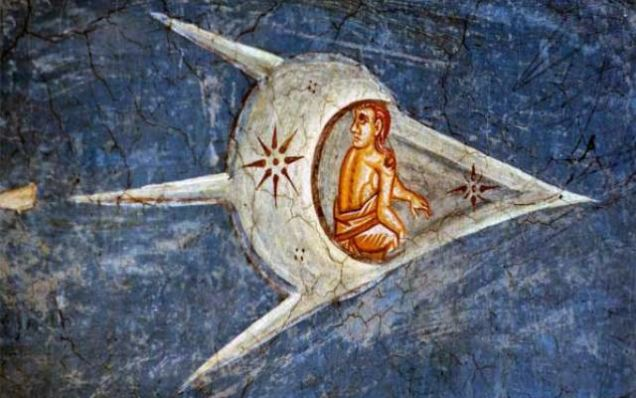 Fragment of altar fresco, ca. 1350, Visoki Decani Monastery, Metohia, Yugoslavia,